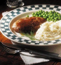 Salisbury steak with dill mashed potatoes