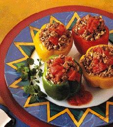 Easy Beef stuffed peppers
